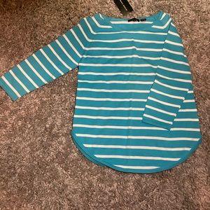 Cute blue striped lightweight sweater!